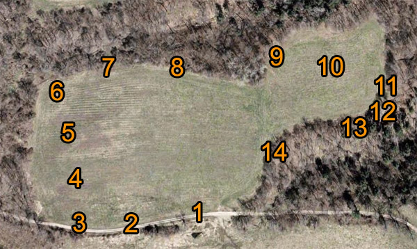 Vernon National Sporting Clays station map