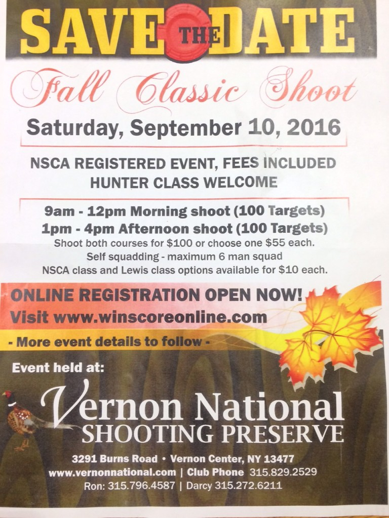 Fall Classic Shoot – Don't Miss it! Saturday September 10th ...